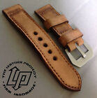 Handmade Vintage Light Tanned Leather Watch Strap Band PAM or big watch.