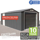 NEW 12x20FT 12x26FT 12x32FT 12x38FT STEEL METAL WORKSHOP UNIT CAR GARAGE