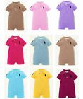 Baby Boys Toddler Kids Short Sleeve  Rompers Infant Polo Bodysuit Many colors