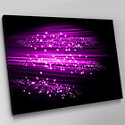 A338 Neon Pink Black Glitter Stars Canvas Wall Art Animal Picture Large Print