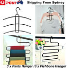 New 3X Multi Colthes Hanger Rack Wrought Iron Fishbone S Hanging Closet Space Sa
