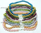 """variation color 8-9mm Natural freshwater pearl stone bib necklace s925 clasp 17"""""""