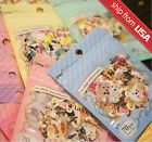 Lot 70 Japanese realistic Cats Animals flower sticker flakes Seal Cute Kawaii
