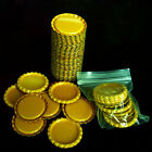 100pcs 1'' Flat Linerless Double Sided Painted Flattened Bottle Caps Craft OY