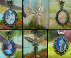 PETER PAN WENDY TINKERBELL CHARM LOCKET NECKLACE PENDANT EARRINGS NEVERLAND