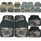 Front Rear Rubber Floor Mats Set Camouflage Jungle Forest Hunting Camo Truck