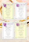 Personalised Elegant / Special Occasion Party Invites (Once Upon A Time Themed)