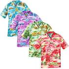 New Mens True Face Ship Hawaiian Top Beach Hula Fancy Dress Shirt Short Sleeve
