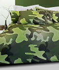 CAMOUFLAGE ARMY Khaki Soft Feel Quilt Doona Cover Set - SINGLE KING
