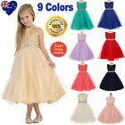 Lace Tulle Flower Girl Dress Girls Party Special Occasion Jr Bridesmaid Dress