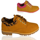 Ladies Chukka Wheat Lace Hiker Worker Grip Sole Army Combat Ankle Boots Shoes