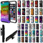 "For Apple iPhone 6 / iPhone 6S 4.7"" Design Holster Hybrid Hard Rubber Case Cover"