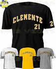 Pittsburgh Pirates Roberto Clemente Jersey Tee Shirt Men Size S-5XL