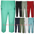 Ladies Womens Casual ¾ Capri Crop Trousers Elasticated Zip Pockets Summer Shorts