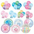 BABY SHOWER BALLOONS - Helium, Foil, Latex, Party Supplies, Pink, Blue, Unisex