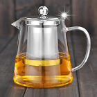500ml Heat Resisted Clear Glass Teapot With Stainless Steel Infuser 3 in 1 Set