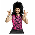Adult Men's 80's Heavy Metal Glam Rock Poison Pink Zebra Spandex Shirt Tank Top