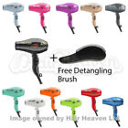 Parlux Advance Light Ionic and Ceramic Hair Dryer chocie of colours +Free Brush