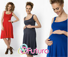 Ladies Maternity Sleeveless Skater Dress Knee Length Tunic Plus Sizes 8-18 FM19
