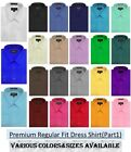 NEW Omega MENS Solid Long Sleeve Dress Shirt - 26Colors, Part 1(12colors)
