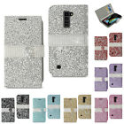 Reiko LG K10 Luxury Jewelry Bling Diamond Crystal Rhinestone Flip Wallet Case