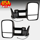 Towing Power Rear Side View Mirror Left Right Set for 88-98 Chevy Suburban C K