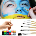 Pro Face Painting Paint 12 Colors Party Games Make Up Guide Rainbow Kit Set Cool