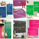 Wallies Coloured Chalkboards - peel & stick wall stickers for kids & adults