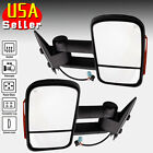 For 03-07 Chevy GMC Side View Mirror Power Heated Turn Signal Towing Pair Set