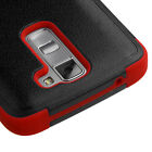 For LG Treasure Tracfone -  Shockproof Hybrid Rugged Impact Dual Armor Skin Case