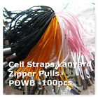 Cell Charm Straps Zipper Pulls Laynards Assorted Colors