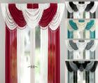 MILLIE SHEER VOILE BEADED 9 PEICE SWAG SET WITH HEART BEADS - Many Colours