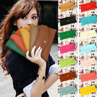 Women Lady Fashion Button Leather Clutch Wallet Purse Credit Card Holder Bag New