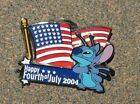B5 PIN DISNEY HAPPY FOURTH OF JULY 2004 STITCH LE