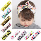 Baby Girls Floral Fruits Animals Scandi Geo Bow Hair Turban Knot Headband Wrap B