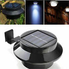1 5x 10x Solar Powered 3LED Fence Gutter Light Outdoor Garden Lobby Pathway Lamp