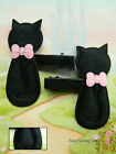 2 X (1 PAIR) OF NOVELTY HEAD HAIR CLIPS LUCKY BLACK CATS FURRY