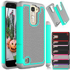 Hybrid Shockproof Rubbed Armor Hard Case Cover For LG K8 Phoenix 2 /K7 Tribute 5