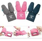 mSquare Potable Foldable Soft Cotton Travel Long Flight Slippers w/ Pouch Bag