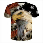 New Fashion Womens/Mens 3D Print Cartoon Eagle Funny Casual T-Shirt Plus SizeCT3