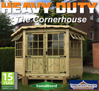 FITTED & DELIVERED** CORNER SUMMERHOUSE FULLY T&G TANALISED GARDEN SHED