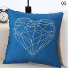 Antlers Geometric Cotton Linen Throw Pillow Case Cushion Cover Home Decor 18×18
