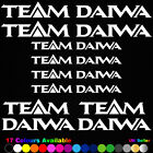 ** TEAM DAIWA ** 8 Sticker Pack - Sign Decal Fishing Rod Tackle Box Window