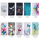 Fr Many Phone Wallet Stand Flip PU Leather Card Slot Case Cover Protective Print