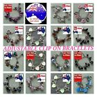 Adjustable Silver CLIP ON CHARM Bracelet Anklet Beads VARIOUS COLOURS / STYLES