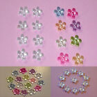 100 X 11MM ACRYLIC FLOWER GEMS-CARDMAKING/SCRAPBOOKING/YOU CHOOSE COLOUR