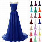 New Long Formal Chiffon Bridesmaid Ball Gown Evening Party Cocktail Prom Dresses