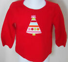 GYMBOREE Girl's Cozy Cutie Red Tree Long Sleeve Shirt Size 3-6 Months