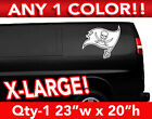 "TAMPA BAY BUCCANEERS FLAG LARGE LOGO DECAL STICKER 23""w x 20""h ANY 1 COLOR $22.99 USD on eBay"
