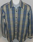 BANANA REPUBLIC Men's Blue Plaid Button Down Shirt Sizes S-M